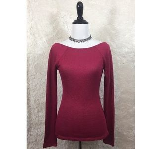Express - Red Light Sweater Like Long Sleeve Small